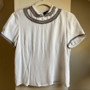 Isabel Marant short sleeve embellished blouse